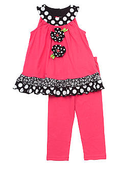 Rare Editions Flower Capri Set Toddler Girls