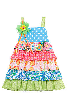 Rare Editions Mixed Tiered Dress Toddler Girls