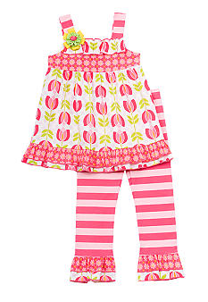 Rare Editions Stripe Tulip Set Toddler Girls