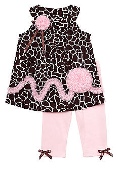 Rare Editions Flower Giraffe Set Toddler Girls - Online Only