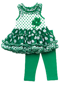 Rare Editions Shamrock Tutu Set Toddler Girls - Online Only