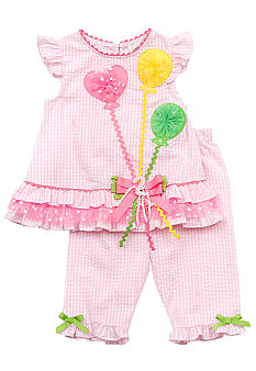 Rare Editions Seersucker Balloon Capri Set Toddler Girls