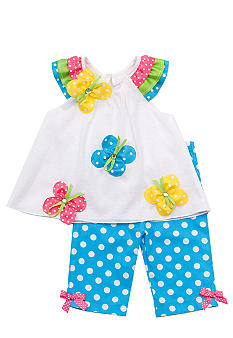Rare Editions Butterfly and Dot Capri Set Toddler Girls