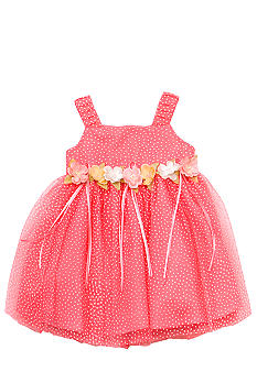 Rare Editions Swiss Dot Dress Toddler Girls