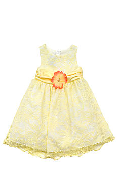 Rare Editions Sheer Overlay Dress Toddler Girls