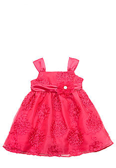 Rare Editions Floral Soutach Dress Toddler Girls