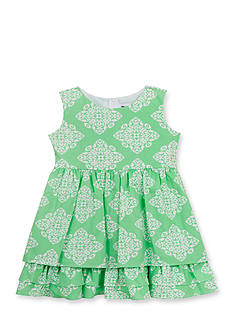 Counting Daisies by Rare Editions 2-Piece Geo Print Ruffle Dress and Cardigan Toddler Girls