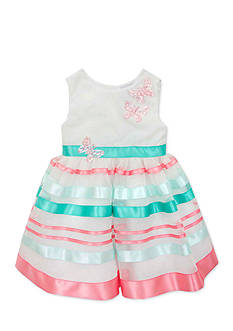Rare Editions Organza Ribbon Dress Toddler Girls