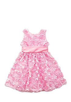 Rare Editions Solid Soutache Dress Toddler Girls