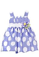 Rare Editions Big Dot Periwinkle Dress