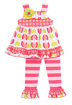 Rare Editions Print Ruffle Legging Set