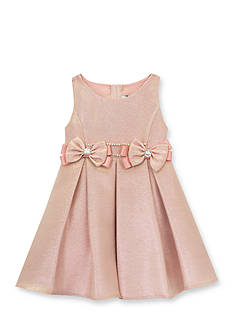 Rare Editions Metallic Brocade Dress Toddler Girls