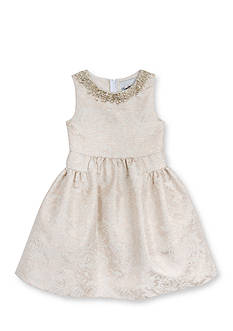 Rare Editions Floral Brocade Dress Toddler Girls