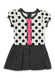 Rare Editions Polka Dot Dress Toddler Girls