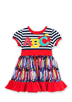 Rare Editions ABC Dress Toddler Girl