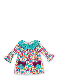 Rare Editions Elephant Ruffle Dress Toddler Girl