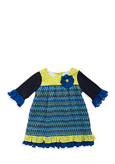 Rare Editions Mixed Pattern Dress Toddler Girls