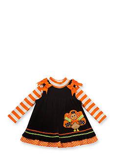 Rare Editions Corduroy Turkey Jumper Infant/Baby Girls