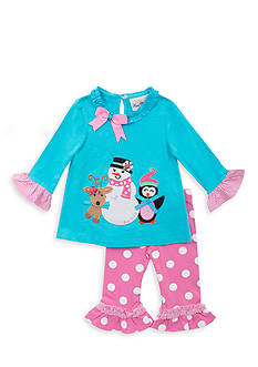 Rare Editions 2-Piece Snow Friends Tunic and Dot Legging Set Toddler Girls