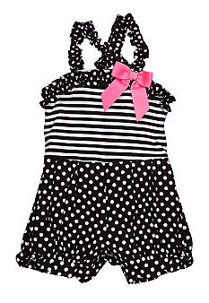 Rare Editions Stripe Dot Romper