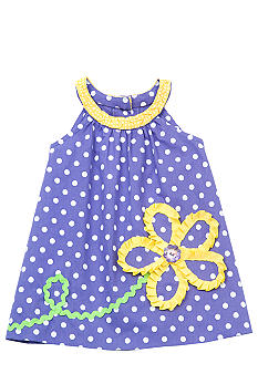 Rare Editions Flower Dot Dress