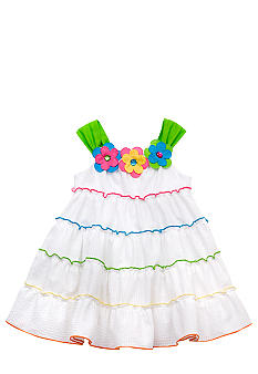 Rare Editions White Tiered Seersucker Dress Toddler Girls