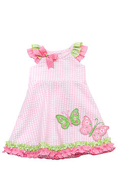 Rare Editions Butterfly Seersucker Dress Toddler Girls
