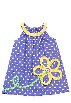 Rare Editions Dot Flower Float Dress Toddler Girls