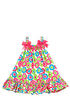 Rare Editions Daisy Print Dress Toddler Girls