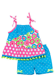 Rare Editions Pieced Dot Short Set Toddler Girls