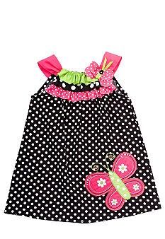 Rare Editions Dot Butterfly Dress Toddler Girls