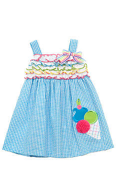 Rare Editions Ice Cream Seersucker Dress Toddler Girls