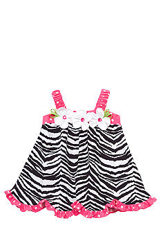 Rare Editions Zebra Dress Toddler Girls