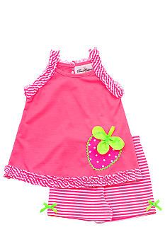 Rare Editions Neon Strawberry Short Set Toddler Girls