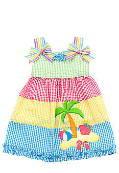 Beach Seersucker Dress Toddler Girls