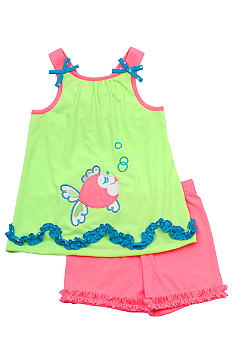 Rare Editions Fish Short Set Toddler Girls