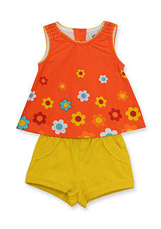 Rare Editions 2-Piece Flower Tank Top and Solid Short Set Toddler Girls