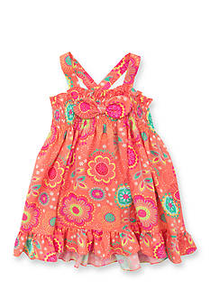 Rare Editions Floral Smock Dress Toddler Girls