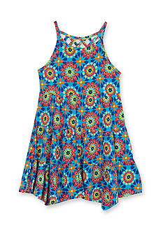 Rare Editions Starburst Printed Knit Dress Toddler Girls