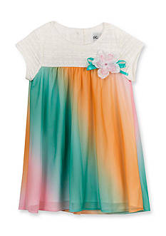 Rare Editions Ombre Chiffon Dress Toddler Girls