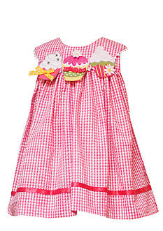 Rare Editions Infant Girl Coral Cupcake Dress