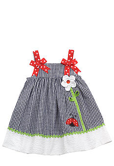 Rare Editions Gingham Ladybug Dress