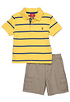 Izod 2-Piece Yellow Polo Shirt and Cargo Short Set
