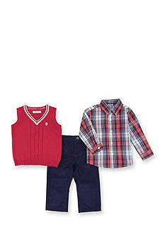 IZOD Sweater Vest, Top and Pants Set Toddler Boys