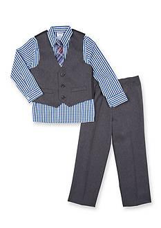 IZOD Herringbone Shirt, Vest and Pant Set Toddler Boys