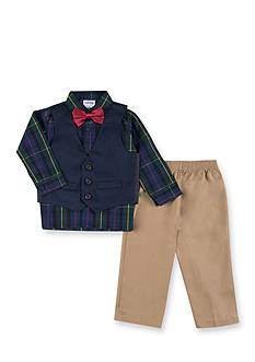 IZOD Solid Twill Bow and Vest Set Toddler Boys