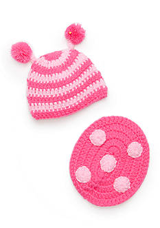 Mud Pie 2-Piece Knit Ladybug Hat and Bum Cover Set