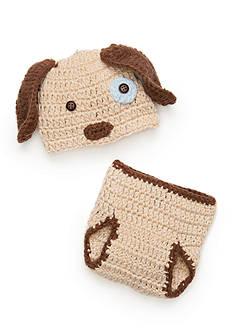 Mud Pie 2-Piece Knit Puppy Hat and Bloomer Set