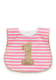 Mud Pie Stripe Glitter Bib