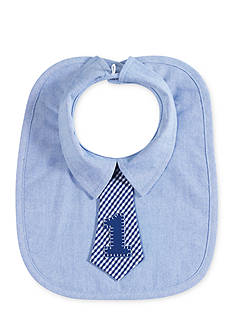Mud Pie Oxford '1' Tie Bib